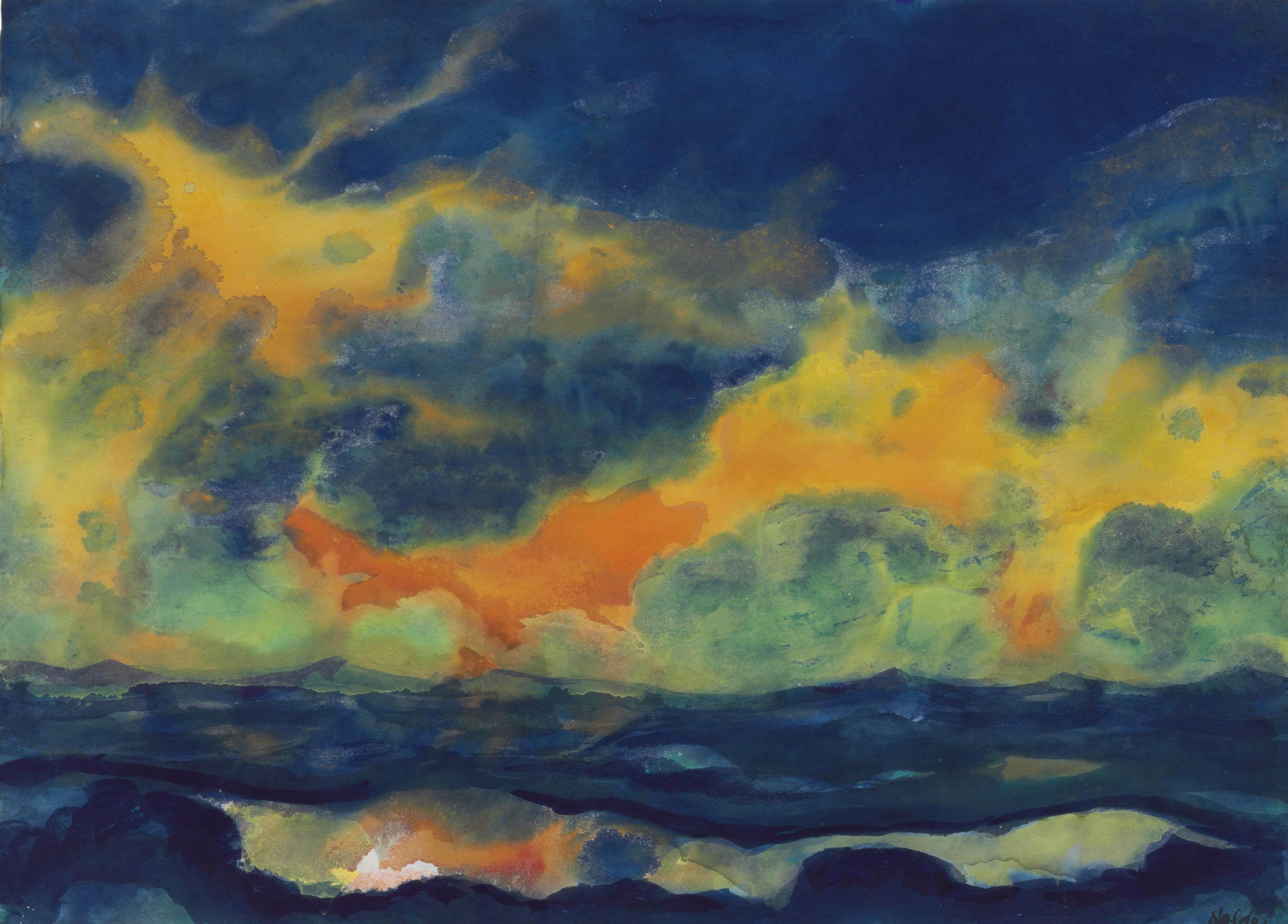 Herbsthimmel am Meer