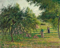Pommiers et faneuses, Eragny