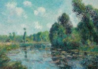 Tournant de rivière, l'Eure à Saint-Cyr-du-Vaudreuil