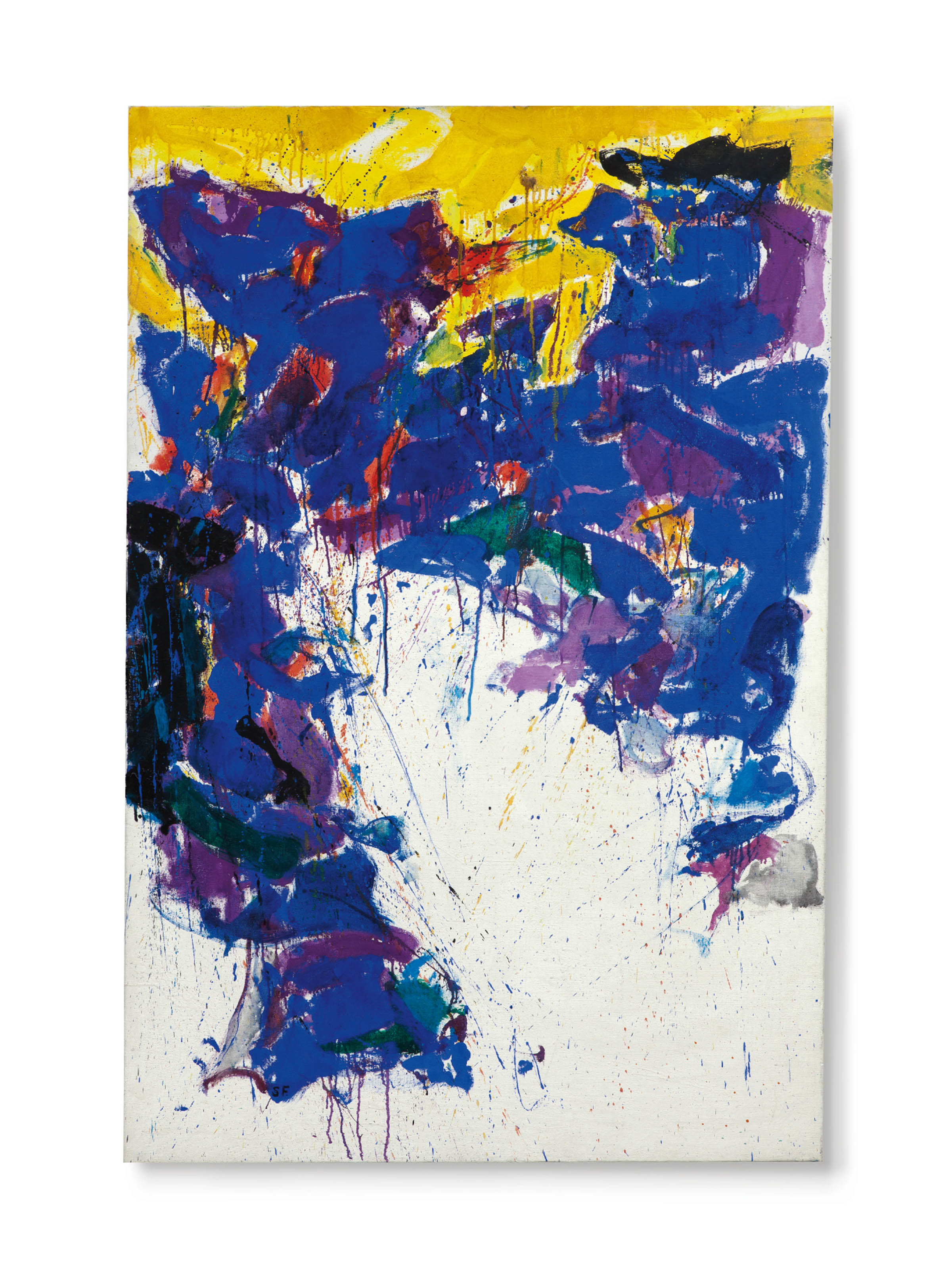 Sam Francis 1923 1994 Violet Yellow And White