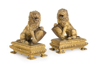A PAIR OF ITALIAN ORMOLU FIGUR