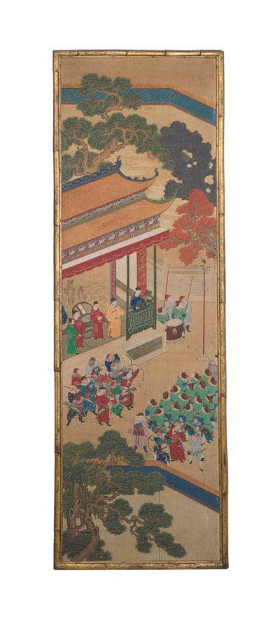 A SET OF TWELVE CHINESE PAINTE