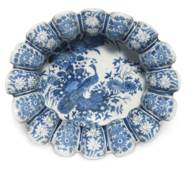 A DUTCH DELFT BLUE AND WHITE L