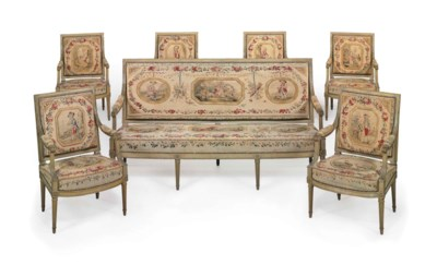 A SUITE OF LOUIS XVI SEAT FURN