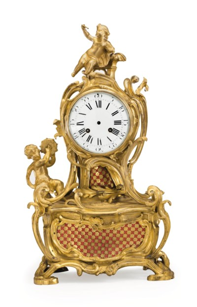 A LOUIS XV ORMOLU STRIKING MAN