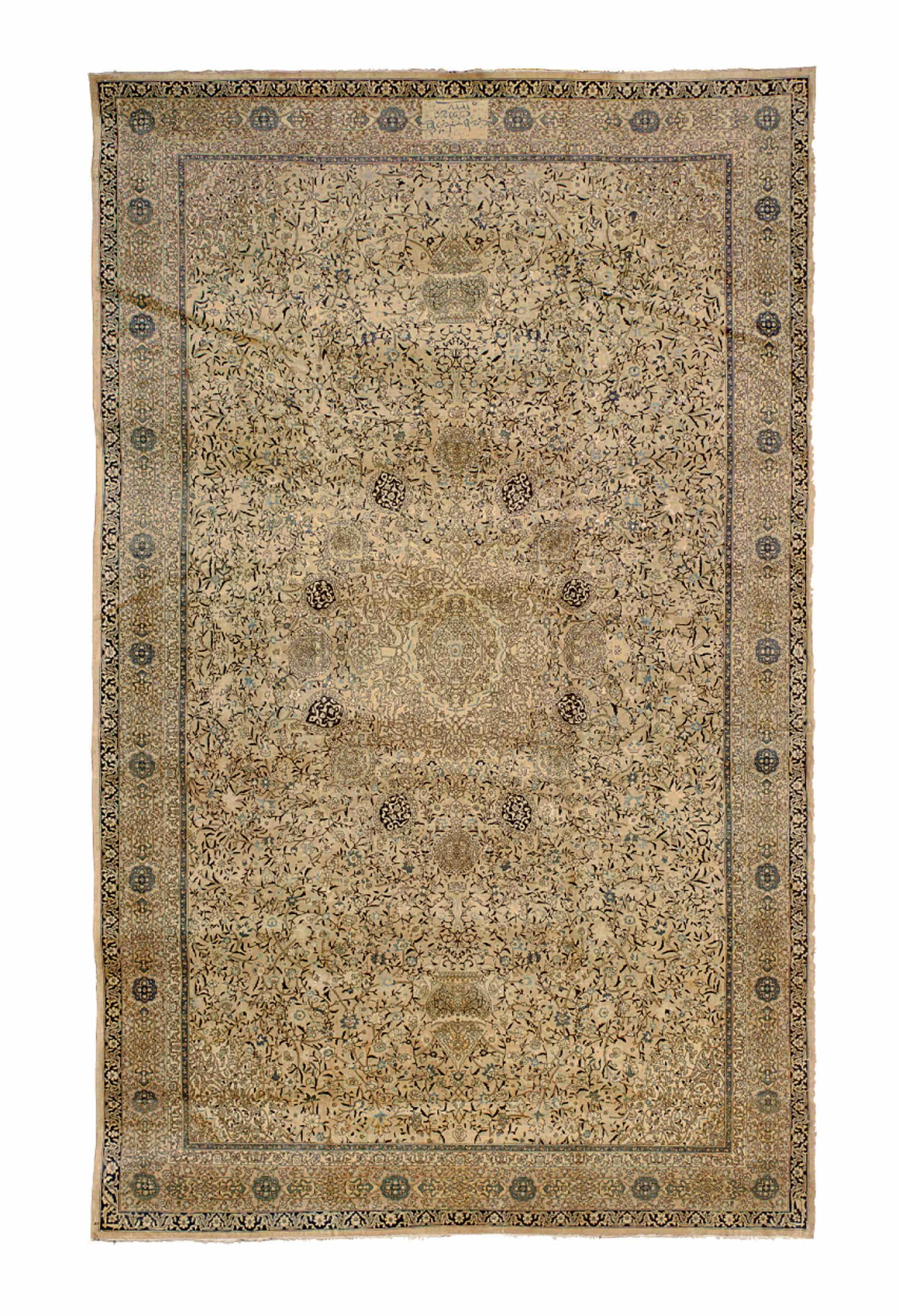 A PERSIAN CARPET WITH SILK HIG