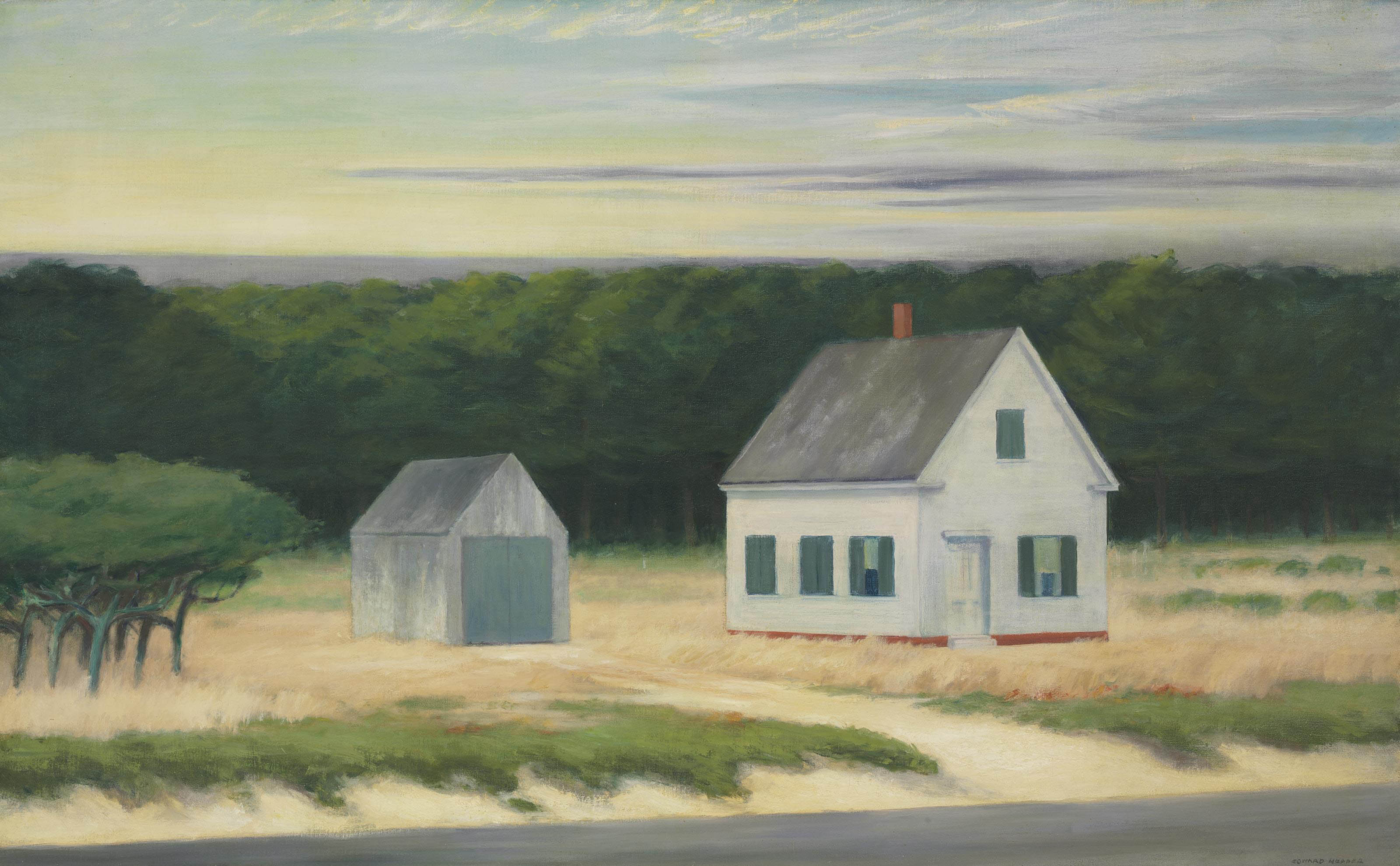 Edward Hopper 1882 1967 October On Cape Cod 20th Century
