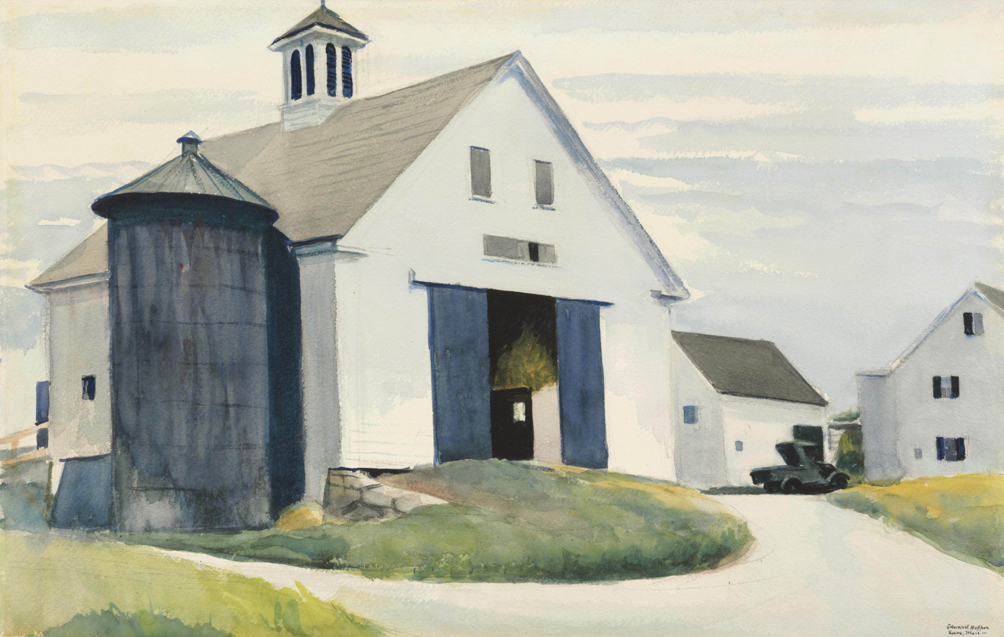 Edward Hopper 1882 1967 Barn At Essex Christie S