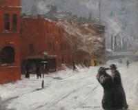 City Snow Scene