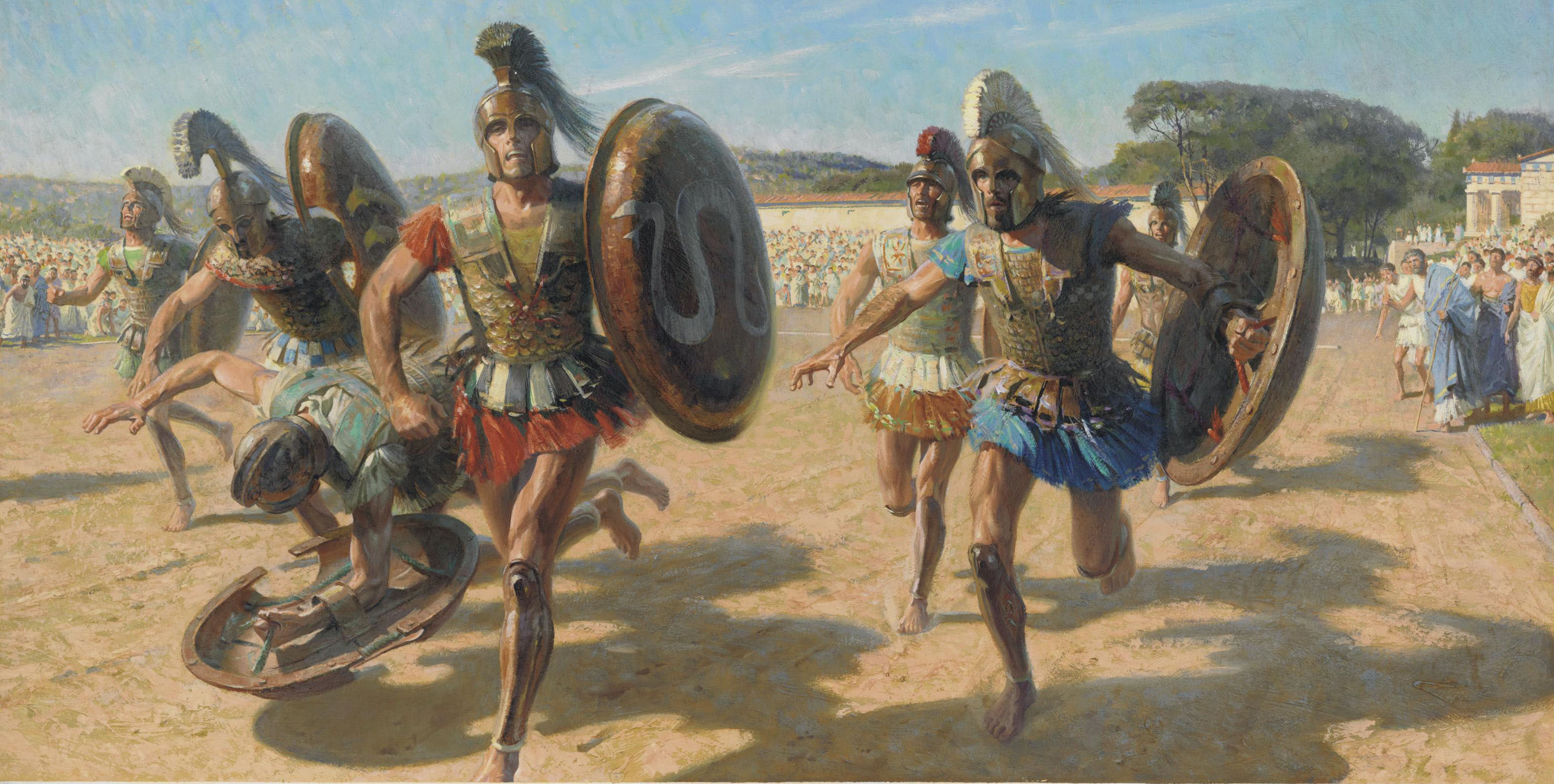 Tom Lovell 1909 1997 Gladiators Race For Fame 20th Century Paintings Christie S