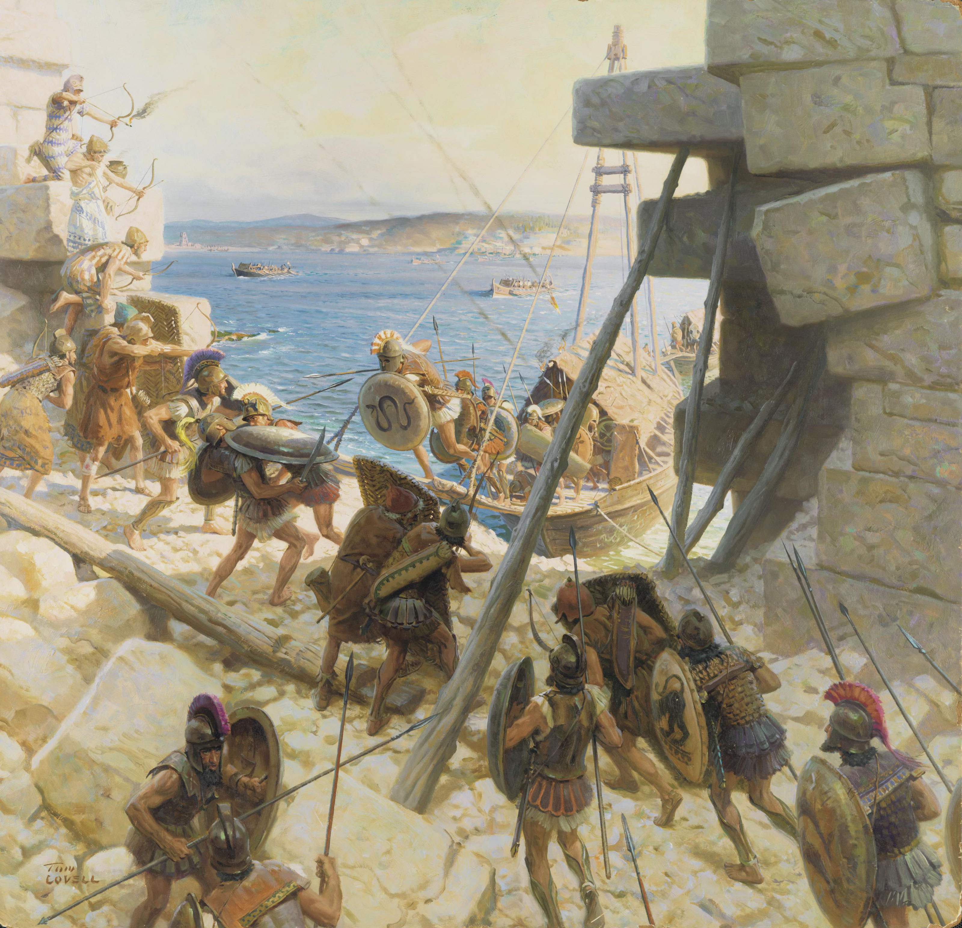 Tom Lovell 1909 1997 Siege Of Tyre 20th Century Paintings Christie S