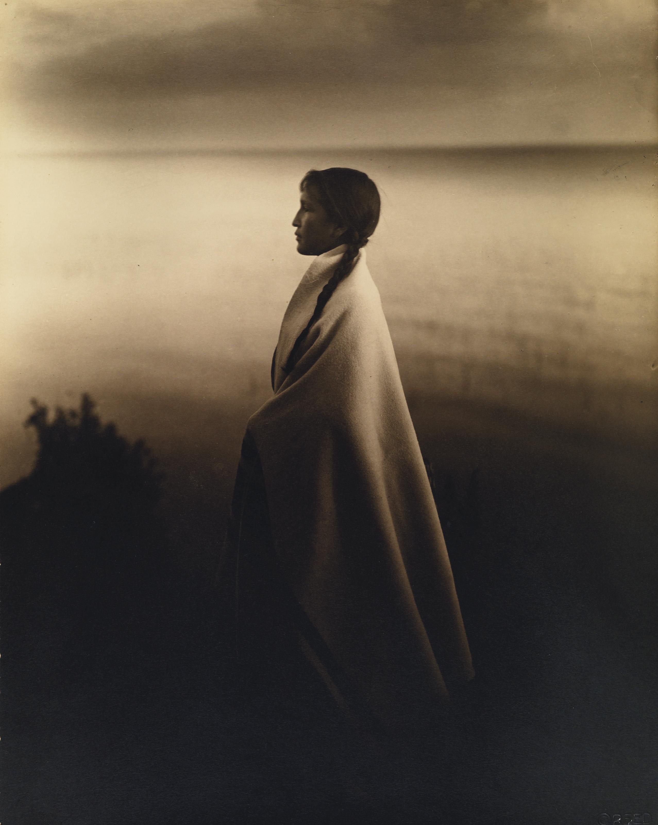 Девушка из индейского народа оджибве (чиппева), 1907. Фотограф Роланд У. Рид