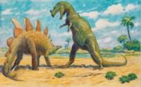 Stegasaurus and Ceratosaurus