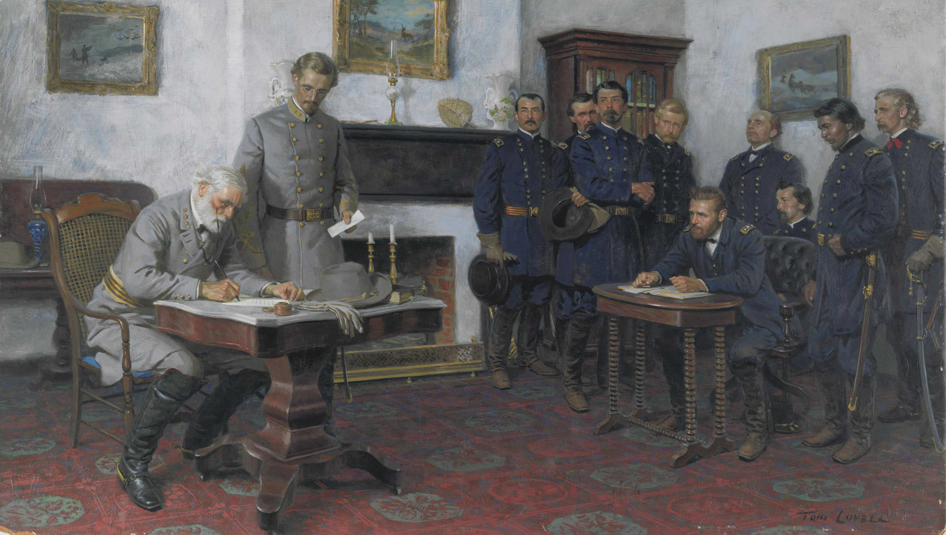 Tom Lovell 1909 1997 Surrender At Appomattox 20th Century Paintings Christie S