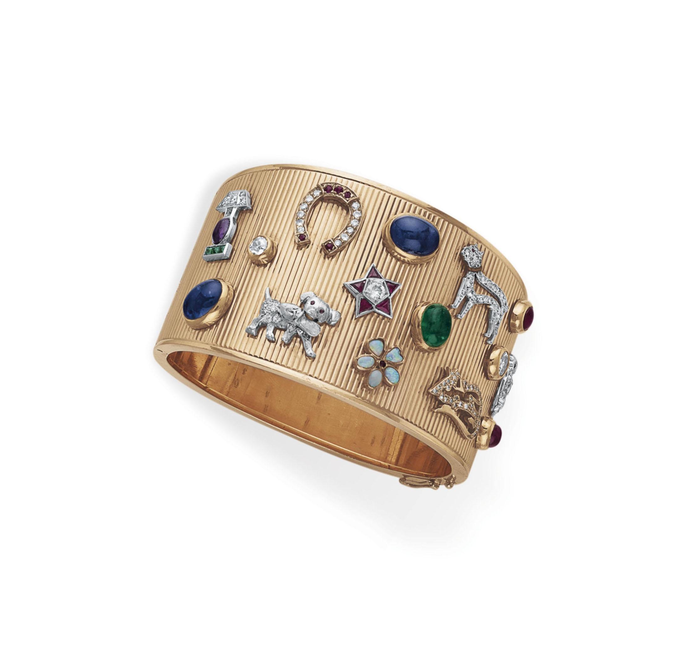 A RETRO DIAMOND, MULTI-GEM AND