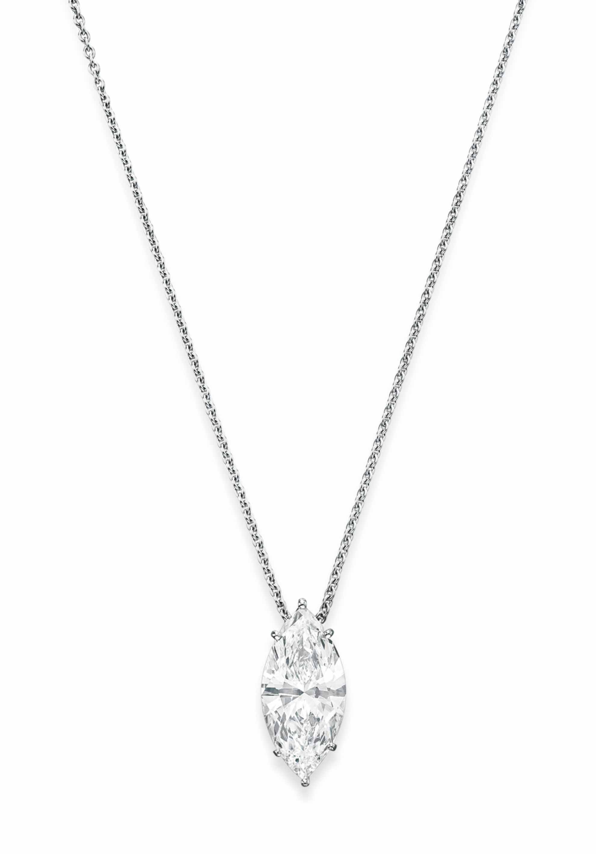 los gold angeles jewelry white collections diamond marquis curated products necklace marquise