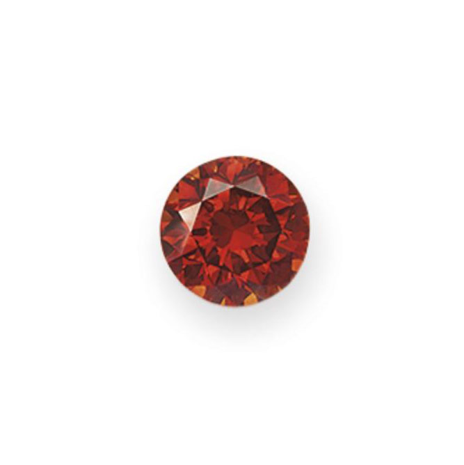 AN UNMOUNTED CIRCULAR-CUT COLORED DIAMOND