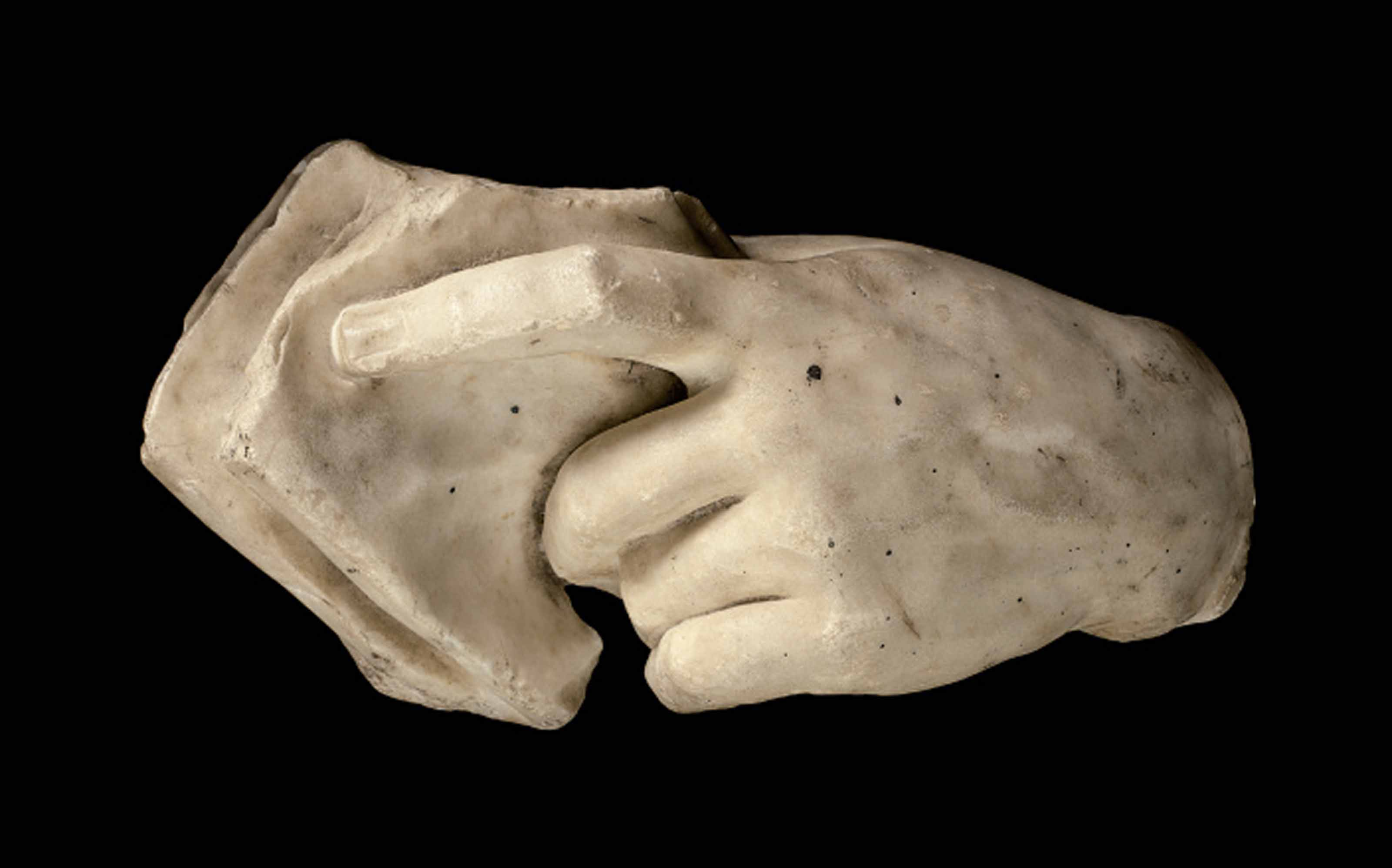 A ROMAN MARBLE LEFT HAND