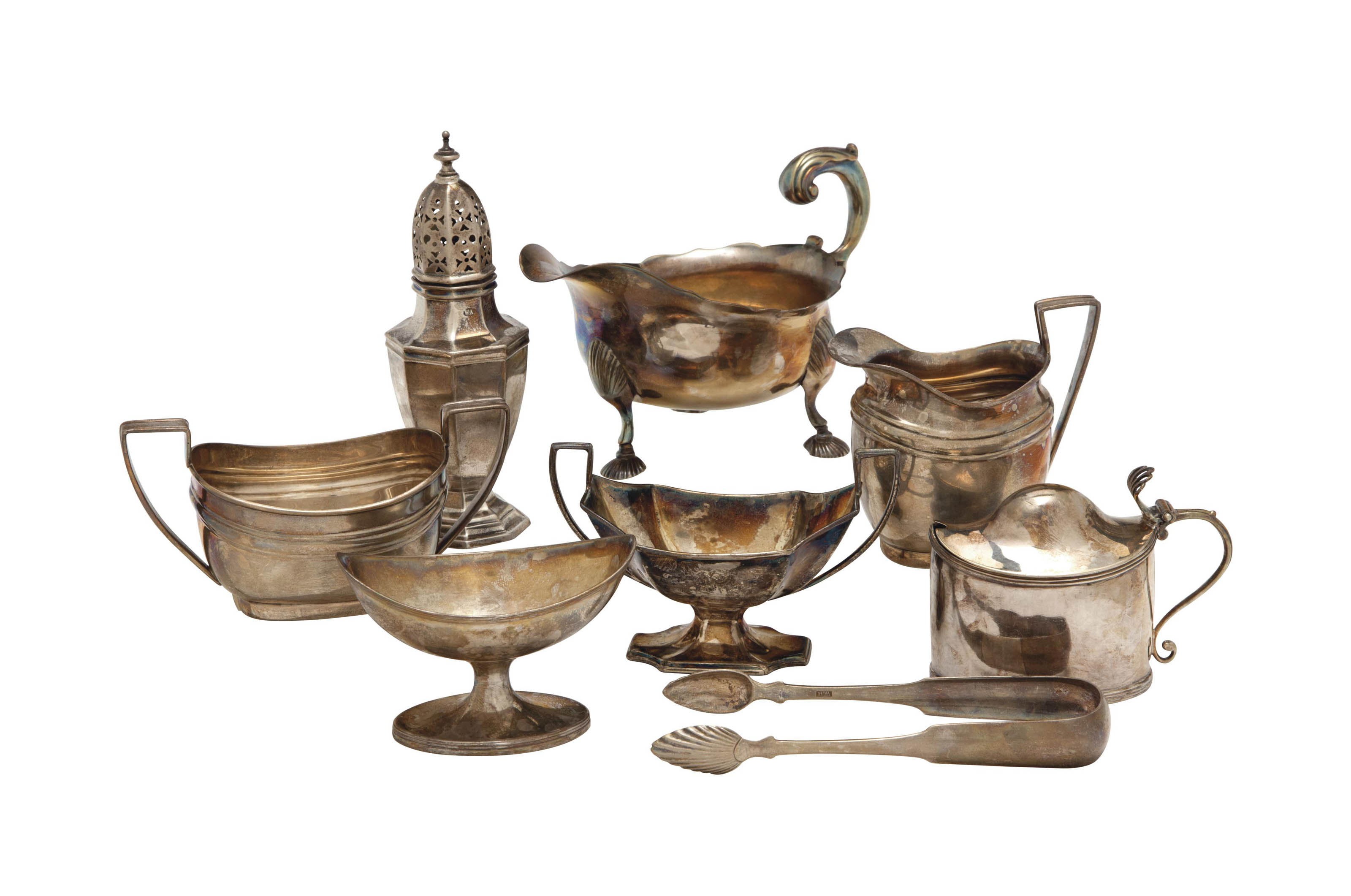A GROUP OF BRITISH TABLEWARES,