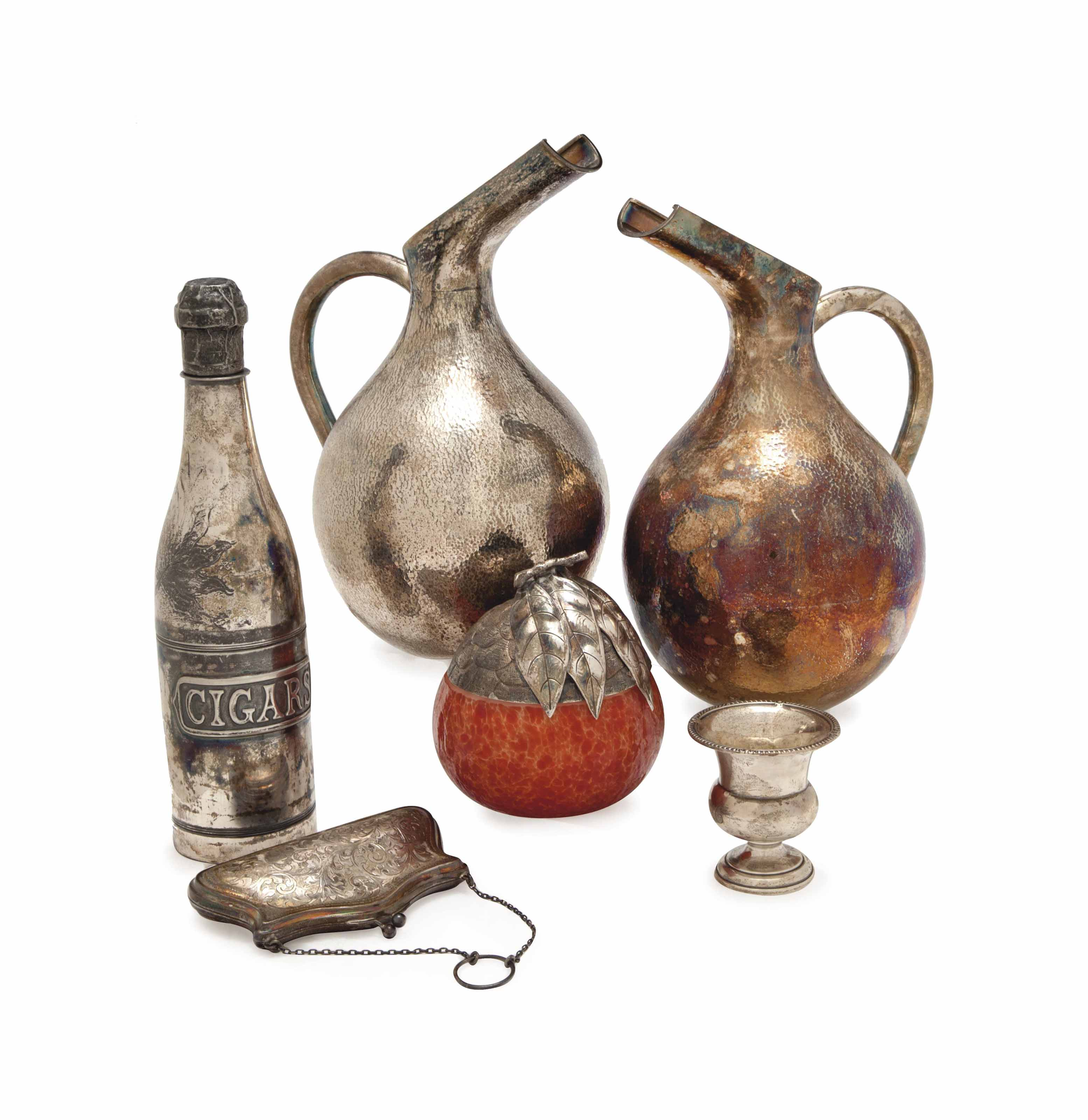 A GROUP OF SILVER TABLEWARES,