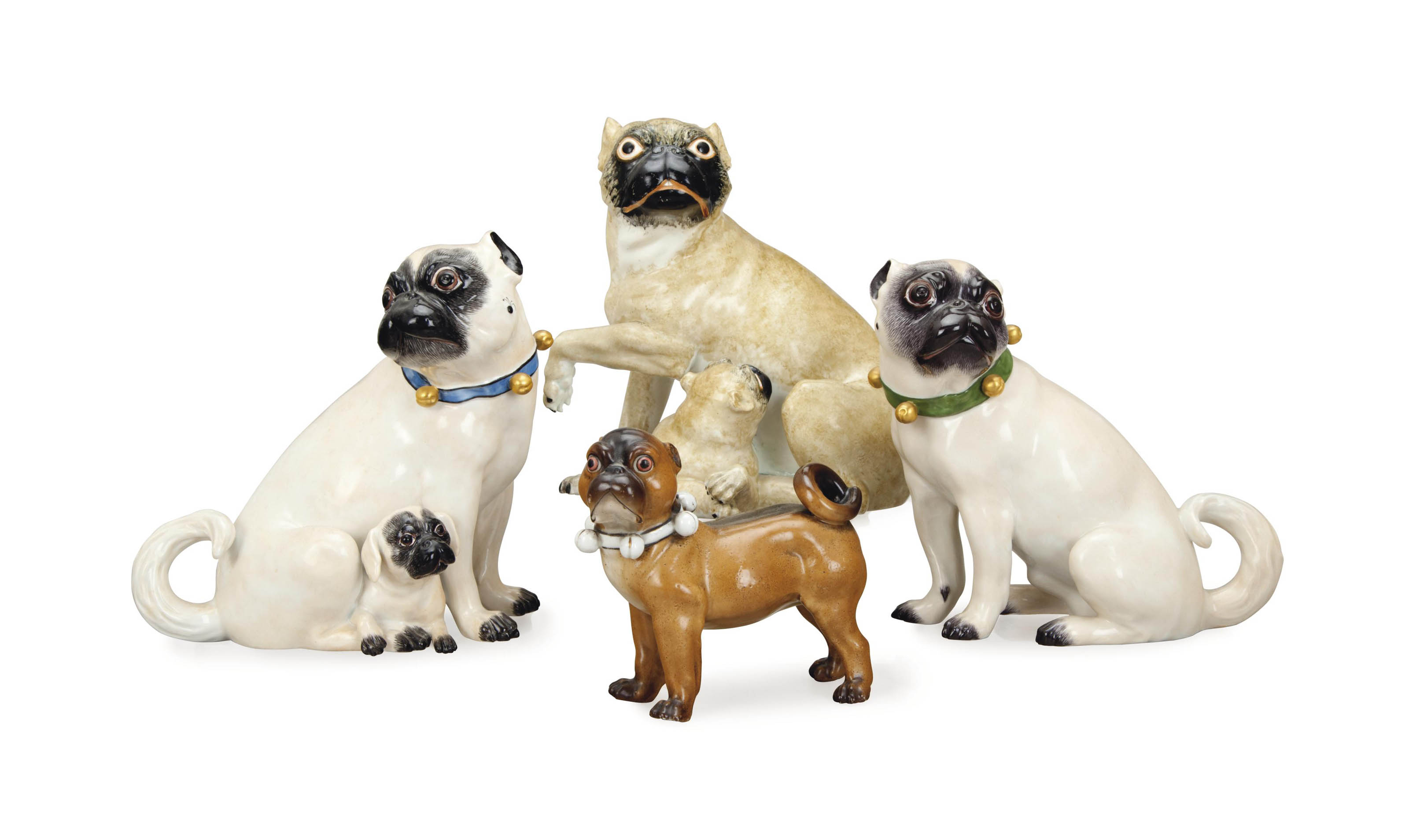 FOUR CONTINENTAL MODELS OF PUG