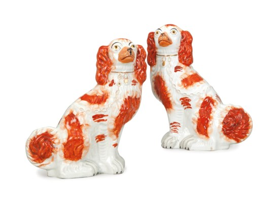 A PAIR OF STAFFORDSHIRE FLATBA