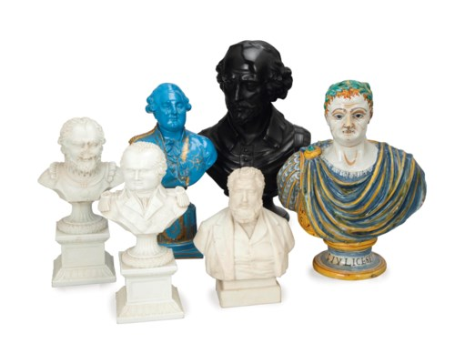 SIX BUSTS DEPICTING HISTORICAL