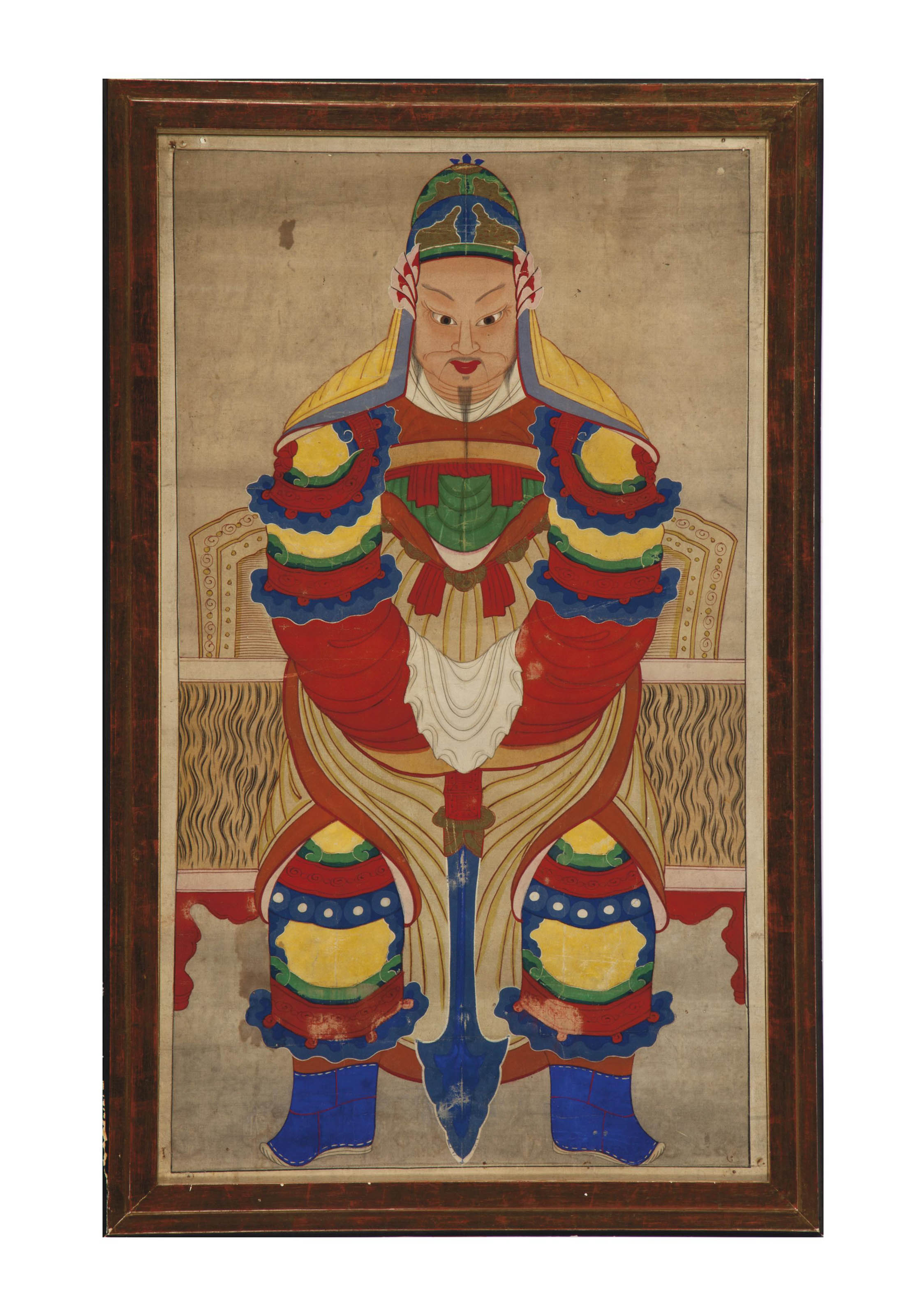 TWO CHINESE ANCESTOR PORTRAITS