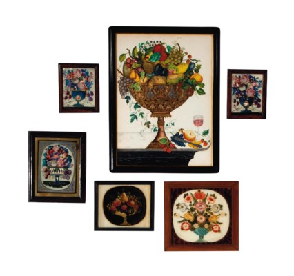 A COLLECTION OF SIX FRAMED EGL