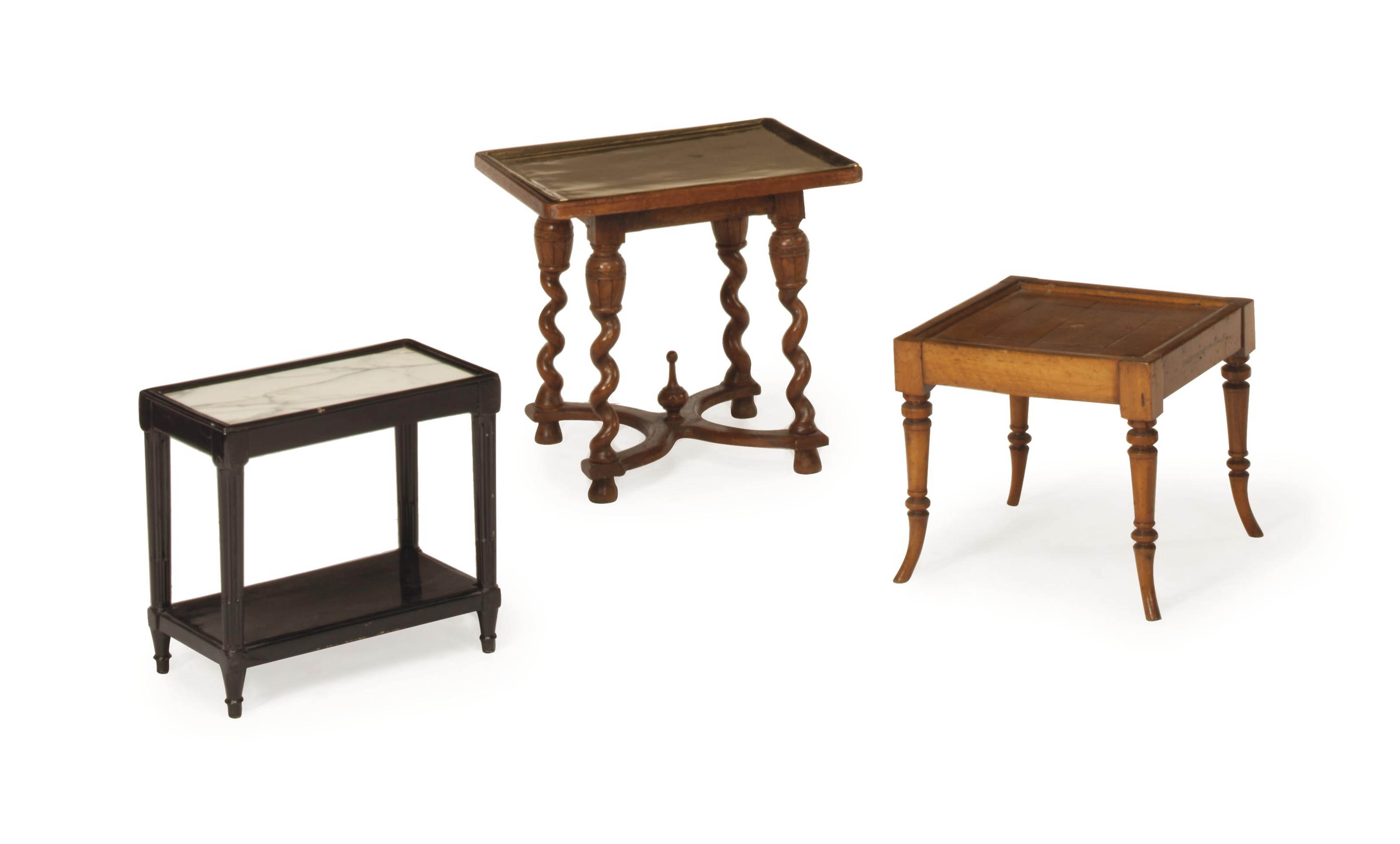 A STAINED-MAHOGANY LOW TABLE W