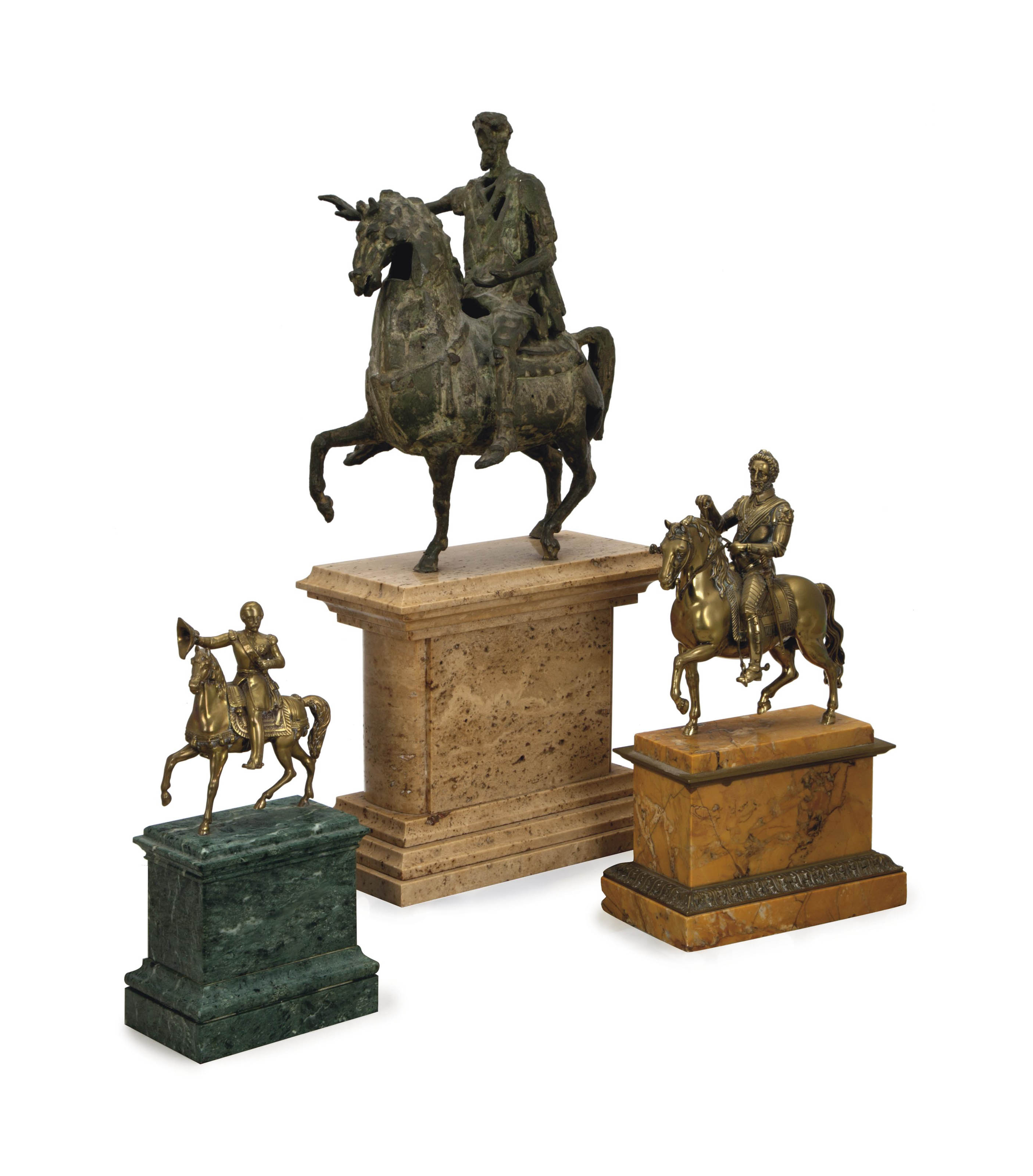 A PATINATED-BRONZE MODEL AFTER