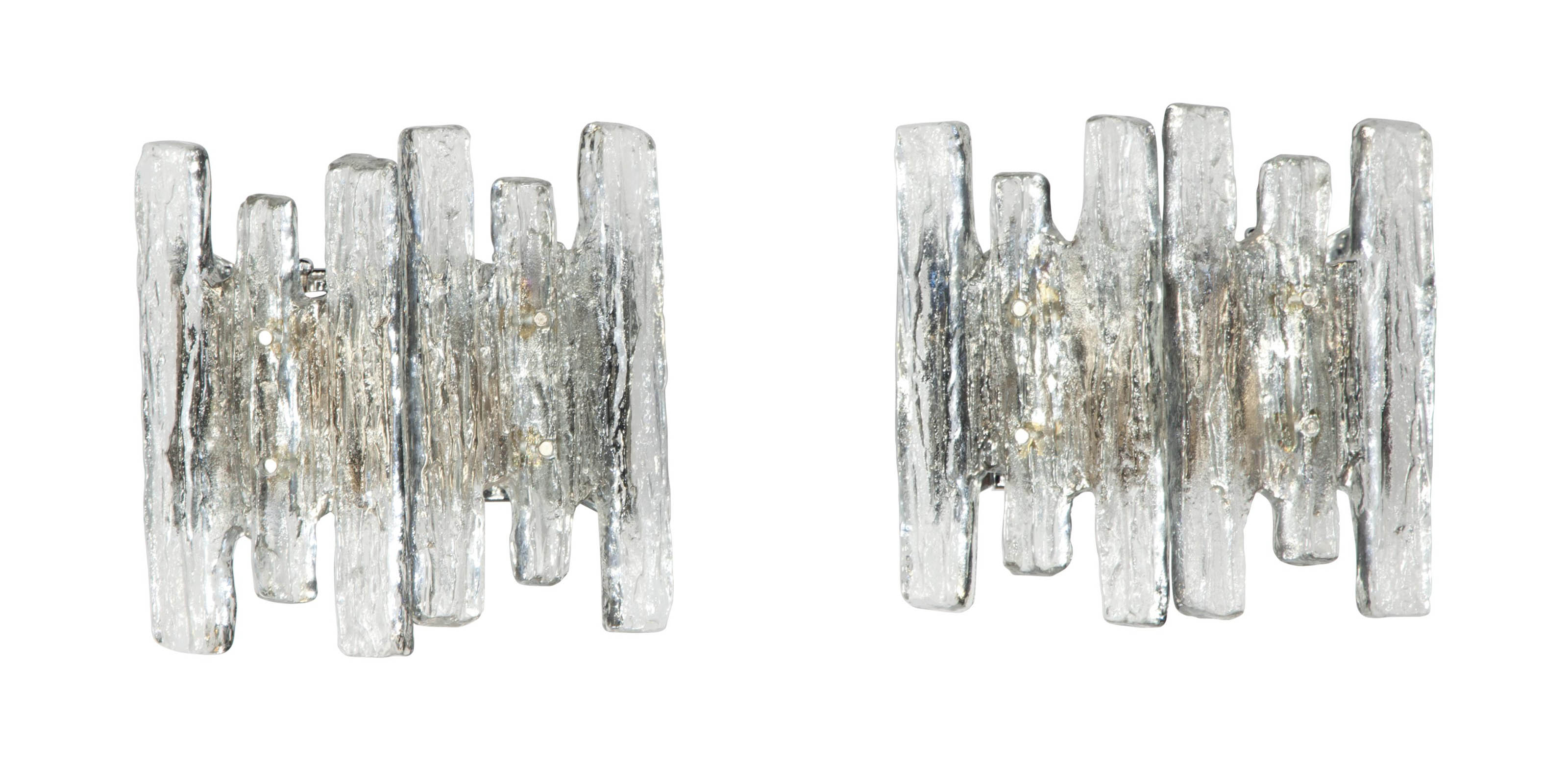 A PAIR OF AUSTRIAN MOLDED-GLAS
