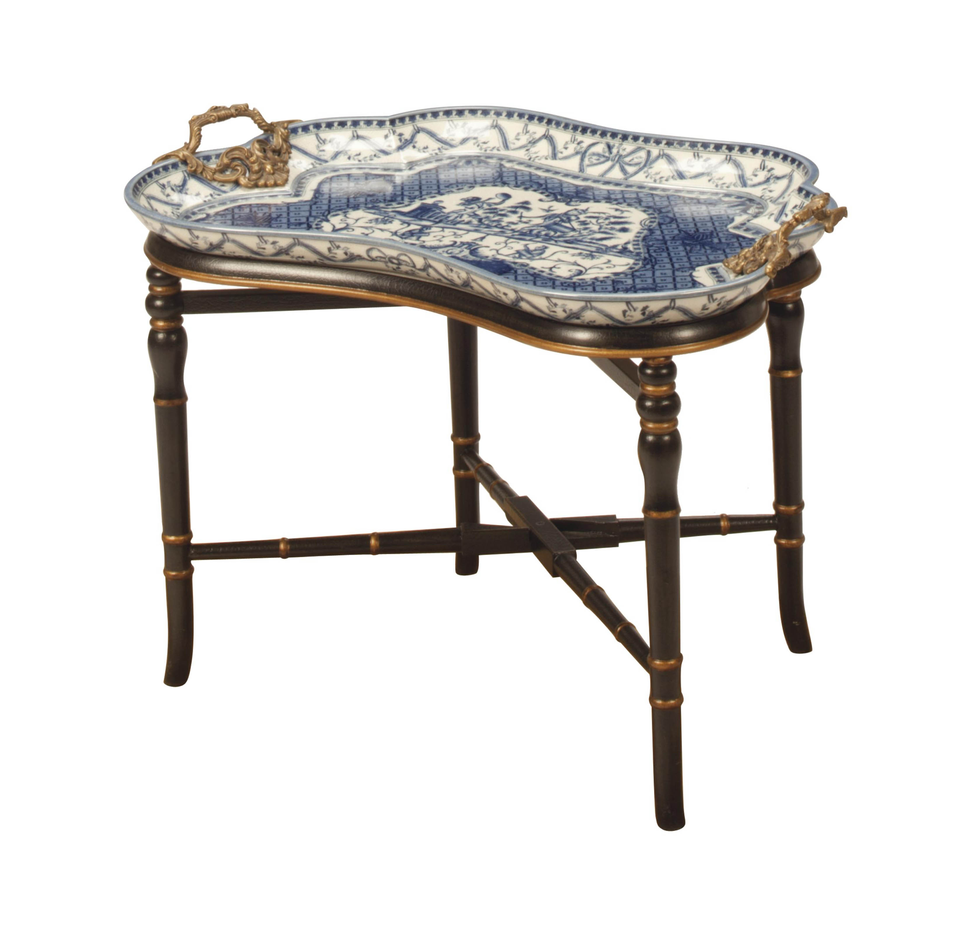 A GILT-METAL-MOUNTED BLUE AND
