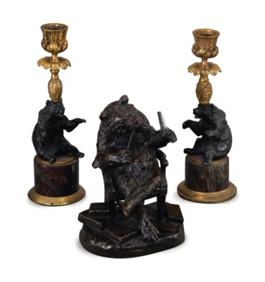 A FRENCH PATINATE-BRONZE MODEL