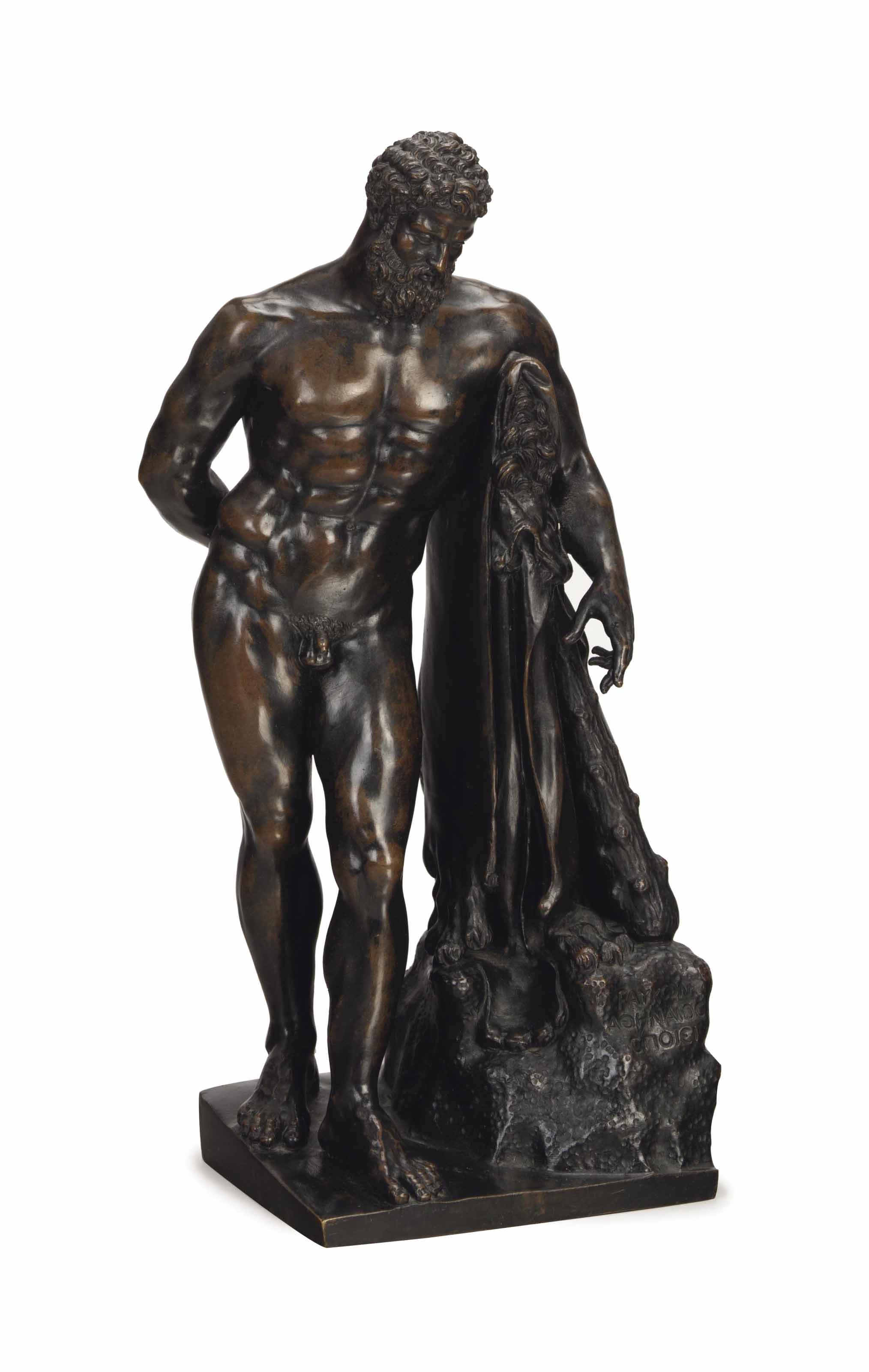 AN ITALIAN PATINATED-BRONZE FI