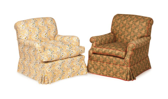 TWO CHINTZ UPHOLSTERED CLUB CH