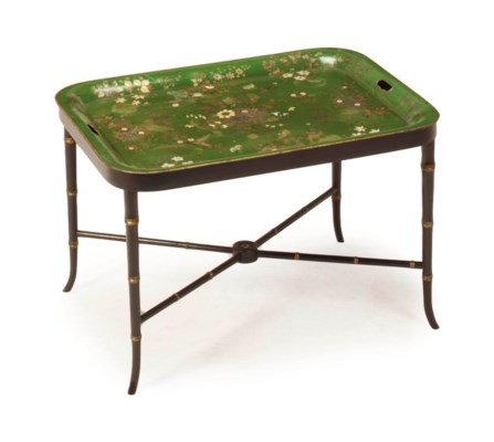 A VICTORIAN GREEN, GILT AND WH