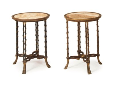 A PAIR OF LOUIS XVI MARBLE AND