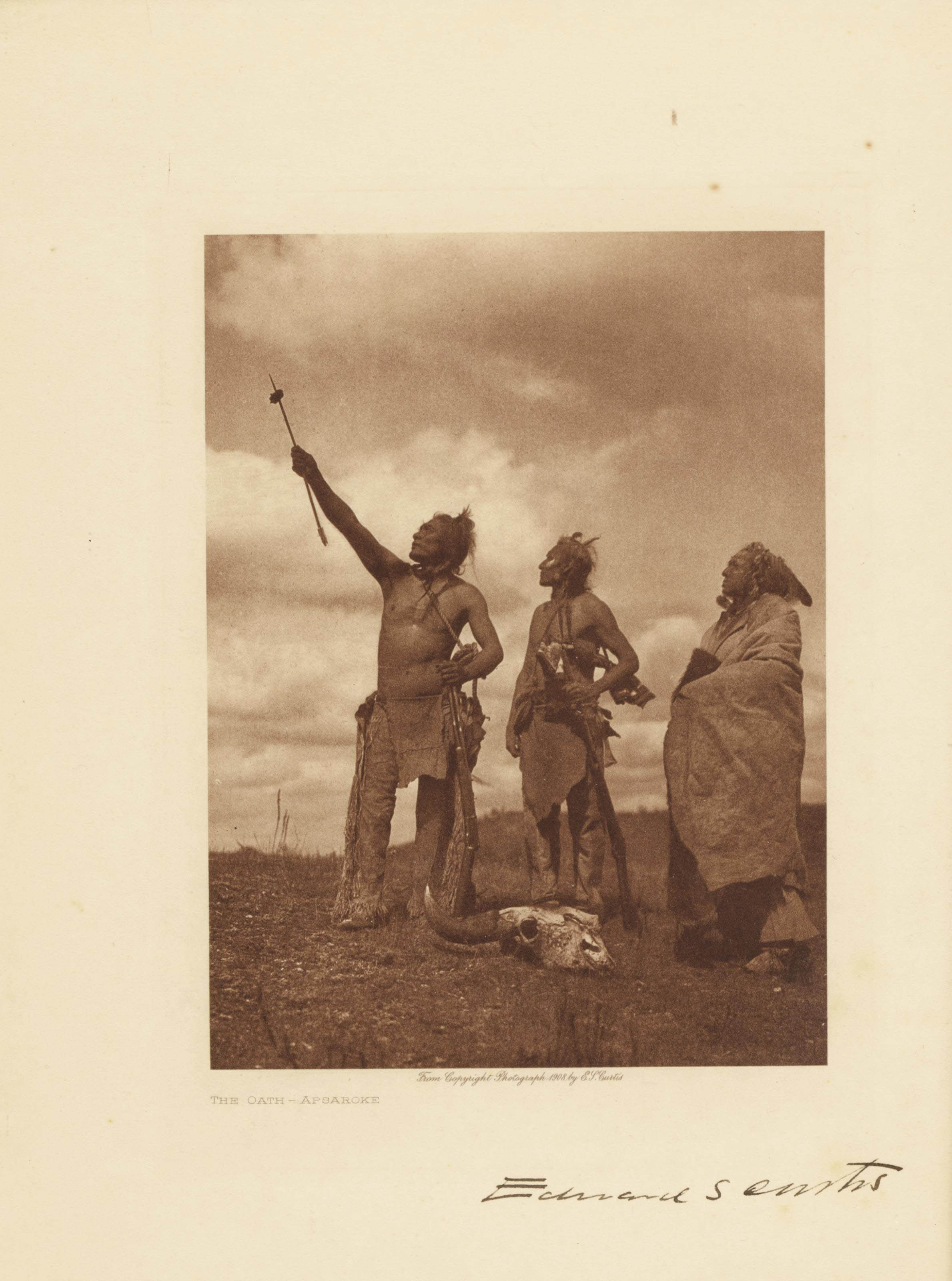 CURTIS, Edward S. (1868-1952). Prospectus for: The North American Indian, being a Series of Volumes Picturing and Describing the Indians of the United States and Alaska. [Cambridge, Mass.], 1907.