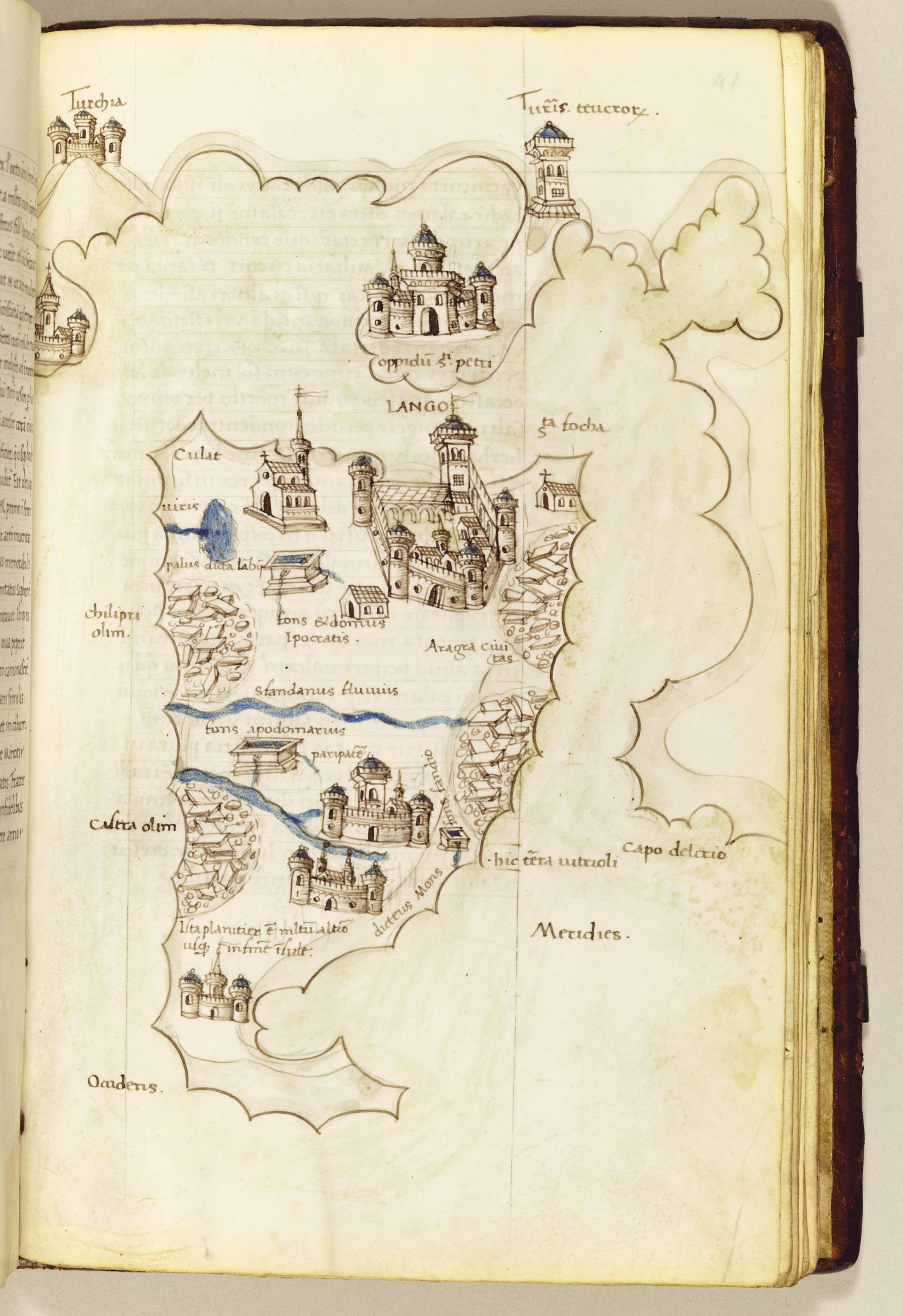 BUONDELMONTI, Cristoforo (Florence c. 1385-not before 1430 probably Greece). Liber Insularum Archipelagi. ILLUMINATED MANUSCRIPT ON VELLUM, in Latin. [Italy, perhaps Florence, c. 1450].