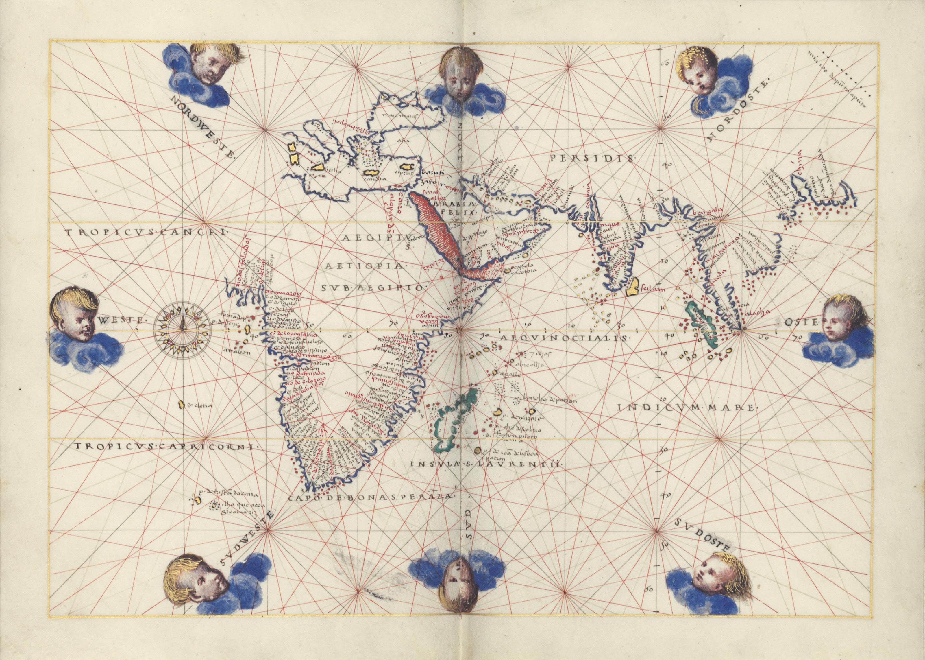 [AGNESE, Battista (c. 1500-1564)]. Portolan atlas of the world. ILLUMINATED MANUSCRIPT ON VELLUM. [Venice, c. 1542-46].