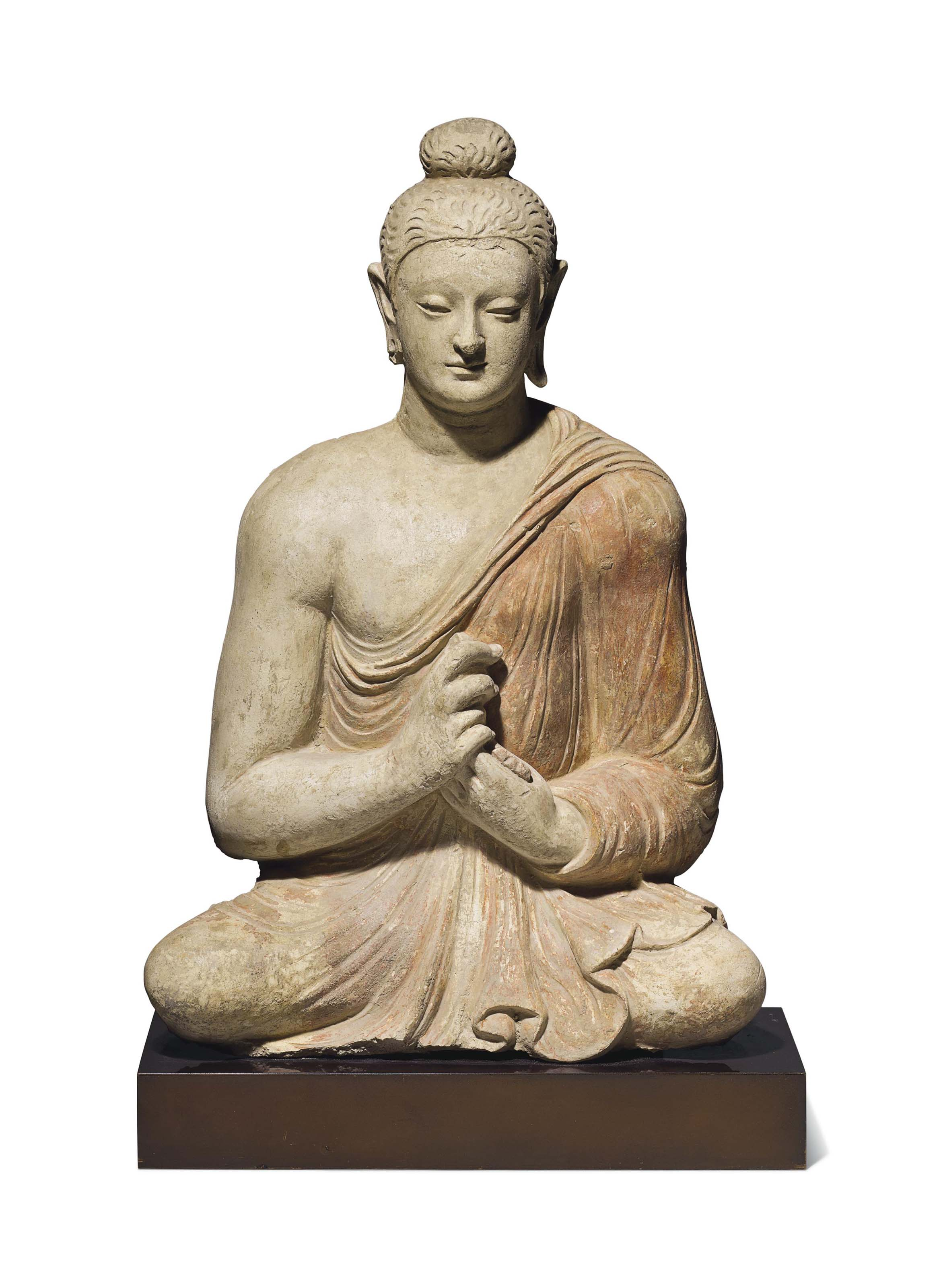 A Polychromed Stucco Figure Of Buddha Gandhara 3rd 4th Century Sculptures Statues Figures Gandhara Christie S