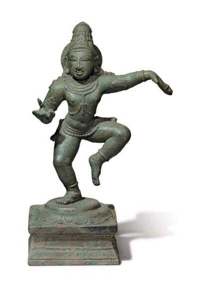 A bronze figure of Sambandar