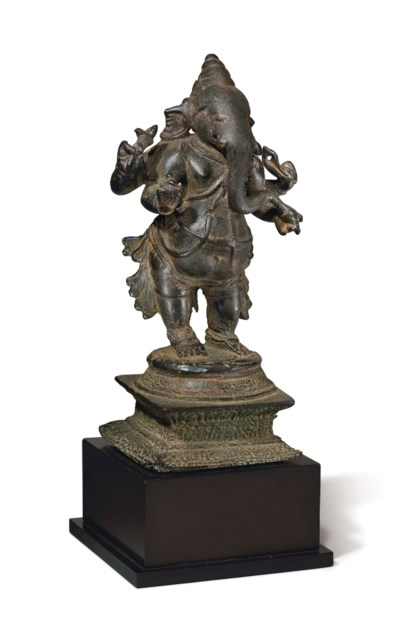 A bronze figure of Ganesha