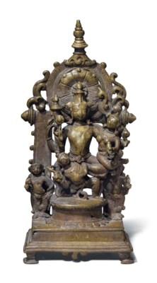 A brass altar of Lakshmi Naray
