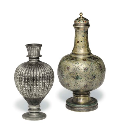A group of inlaid vessels