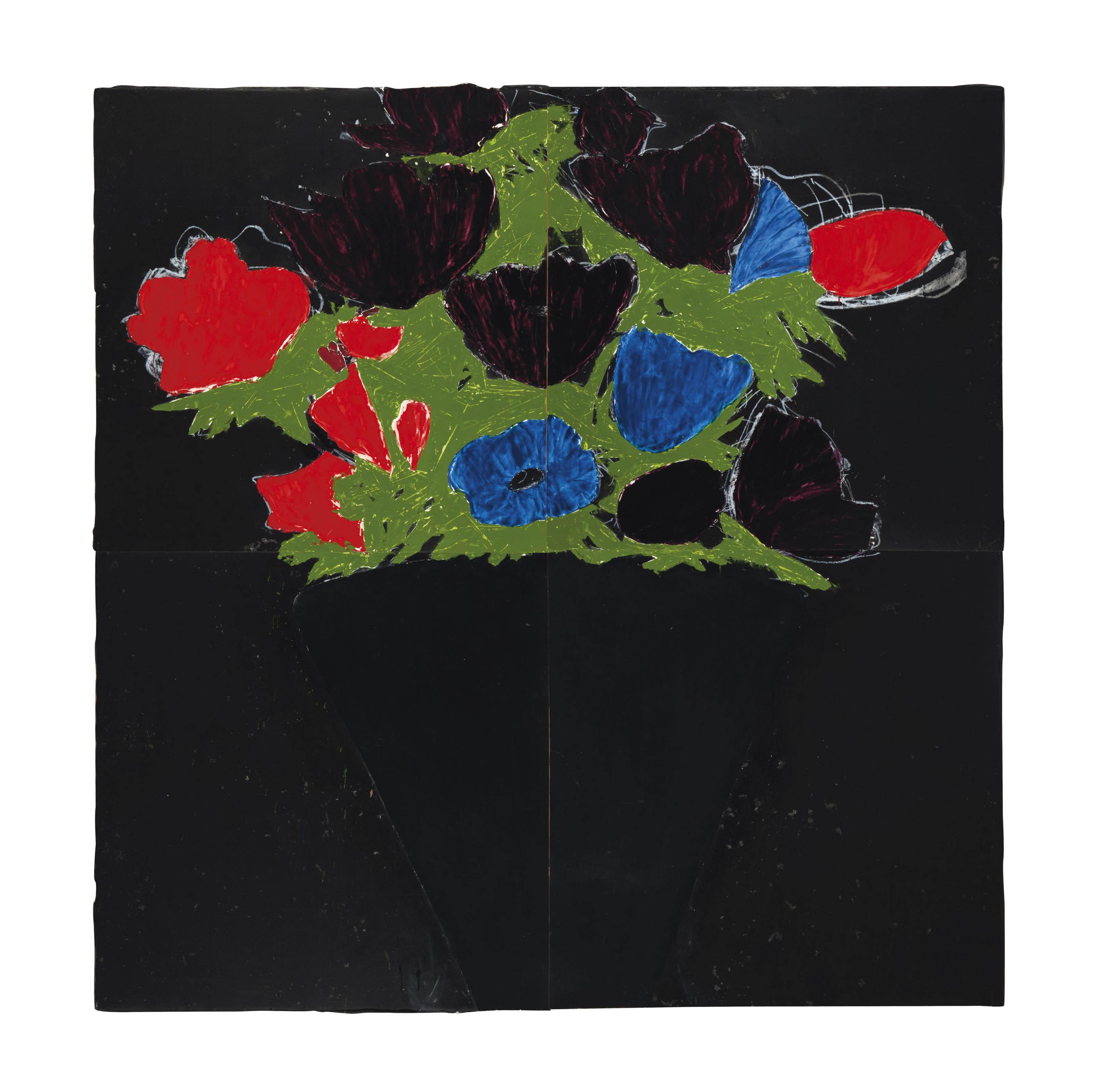 Anemones in a Black Vase, May 19, 1988