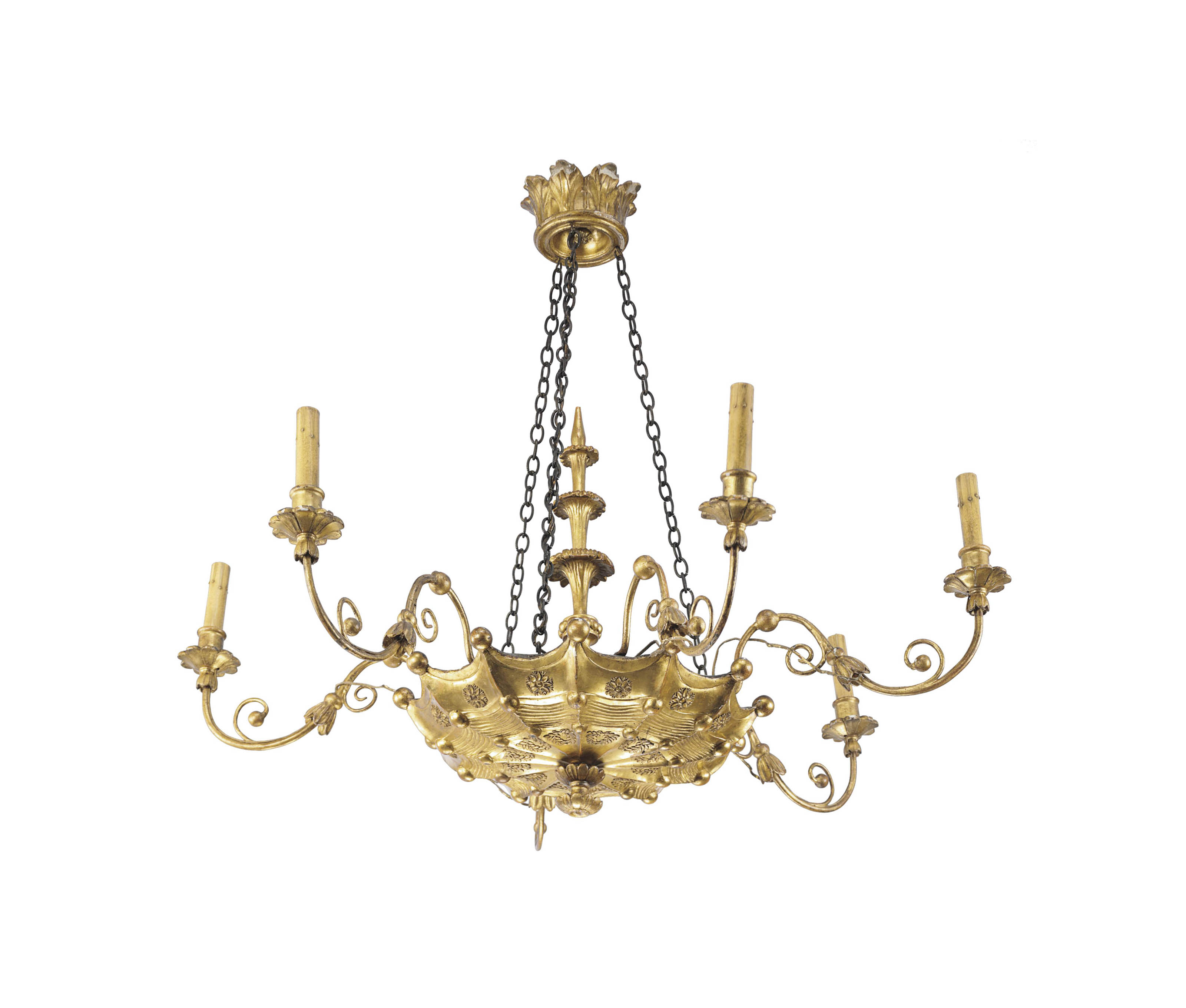 A CONTINENTAL CARVED GILTWOOD