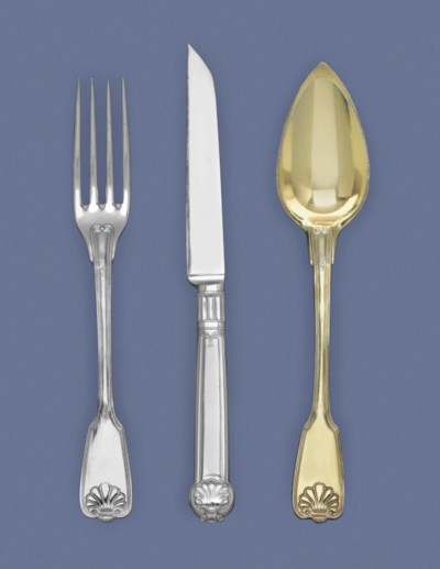 A FRENCH SILVER-GILT DESSERT S