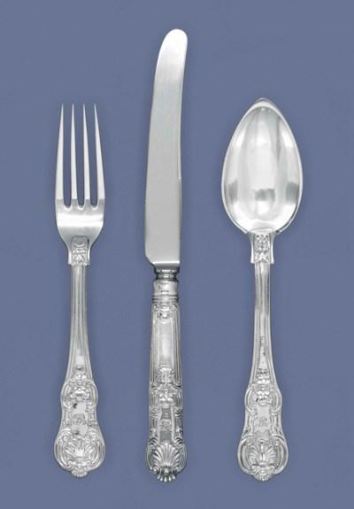 AN ITALIAN SILVER TABLE SERVIC